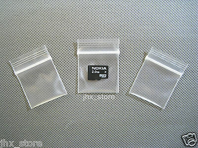 "50 Clear Small Ziplock Bag Thick Reclosable Zipper Pouches 1.2"" x 1.5""_30 x 40mm"