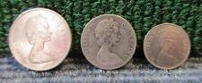 3 QUEEN ELIZABETH II COINS > 1969 25 CENTS, 1968 5 CENTS, 1973 10 CENTS(SET4)