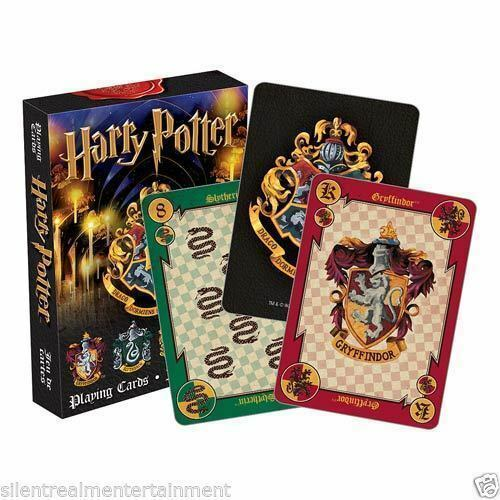HARRY POTTER PLAYING CARD DECK 52 CARDS NEW HOUSE CRESTS