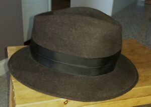 Royal-Stetson-wool-felt-hat-made-in-Australia-sz-7-8-Ball-amp-Welch-dark-grey