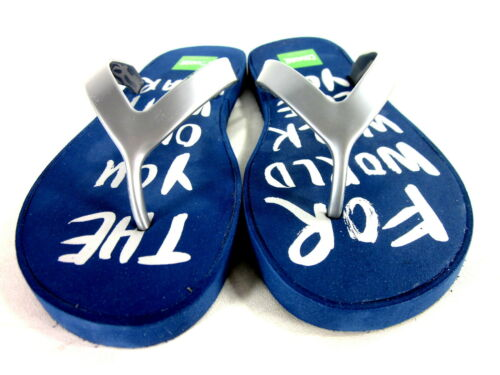 COUGAR WOMEN/'S WORLD THONG COMFORT FLIP FLOP SANDAL NAVY SYNTHETIC US SIZE 8 MED