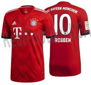 brand new a3b0b ac768 Details about ADIDAS ARJEN ROBBEN BAYERN MUNICH AUTHENTIC MATCH HOME JERSEY  2018/19 PATCH.