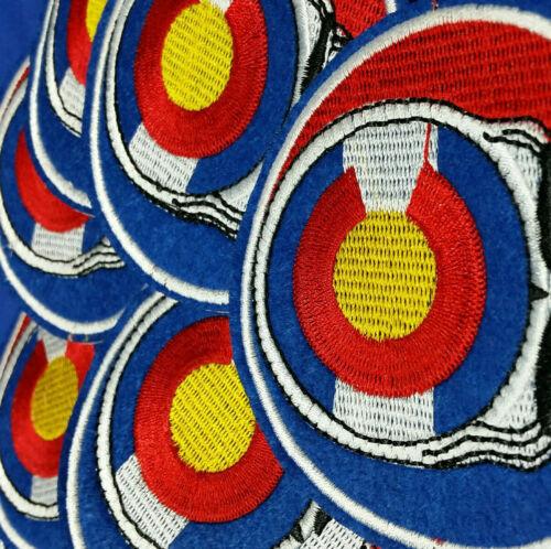 "Colorado State Flag Patch Grateful Dead Stealie 3.5/"" Folsom Dead /& Company  2pc"