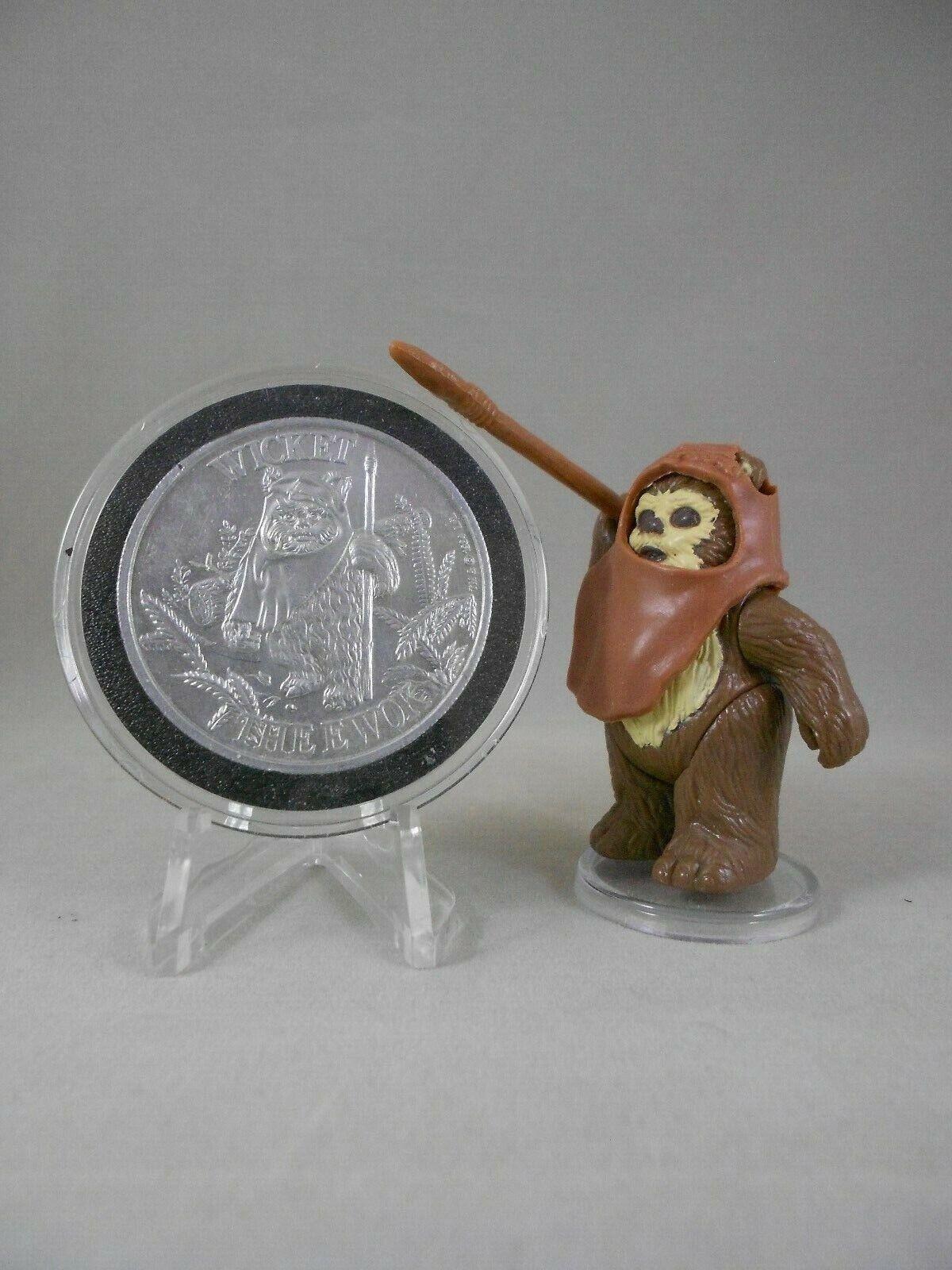 Vintage Star Wars ROTJ 1984 Wicket - E N Mint -  Vintage Complete  w POTF Coin
