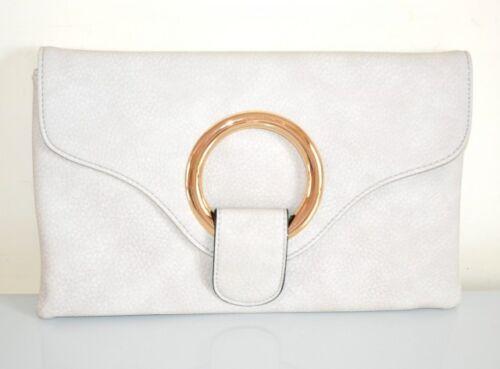 Cuir Faux À tout Сумка Pochette Or Élégant Main Fourre Gris Bag Sac Femme E200 1qHYBB