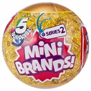 5 Surprise Mini Brands Zuru Blind 4 Balls Lot Capsules SEALED NEW