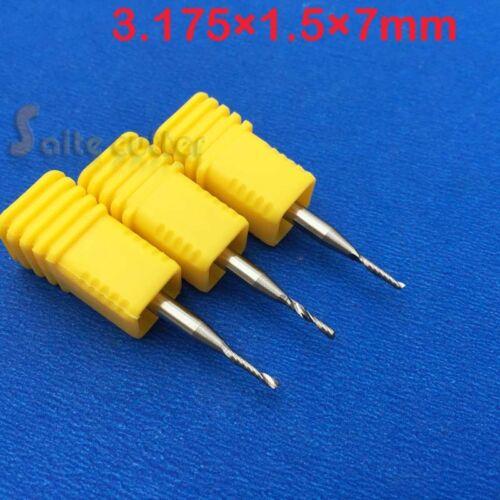 5pcs HQ Acrylic Tool endmill single flute spiral CNC router bit 3.175mmx1.5x7mm