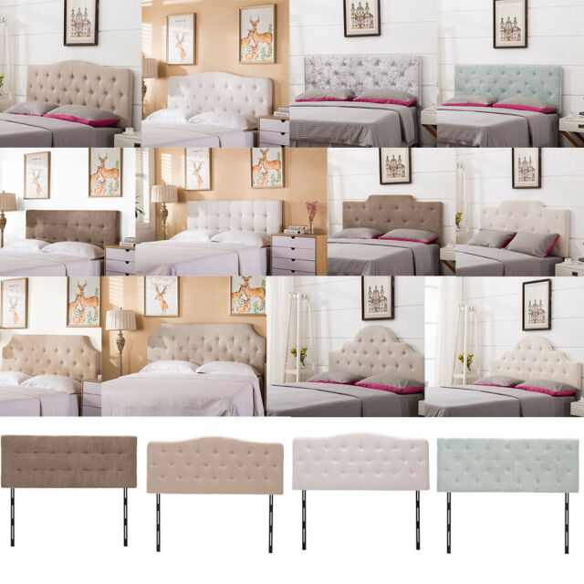 Upholstered King Queen Twin Size Headboard On Tufted Adjule Headboards