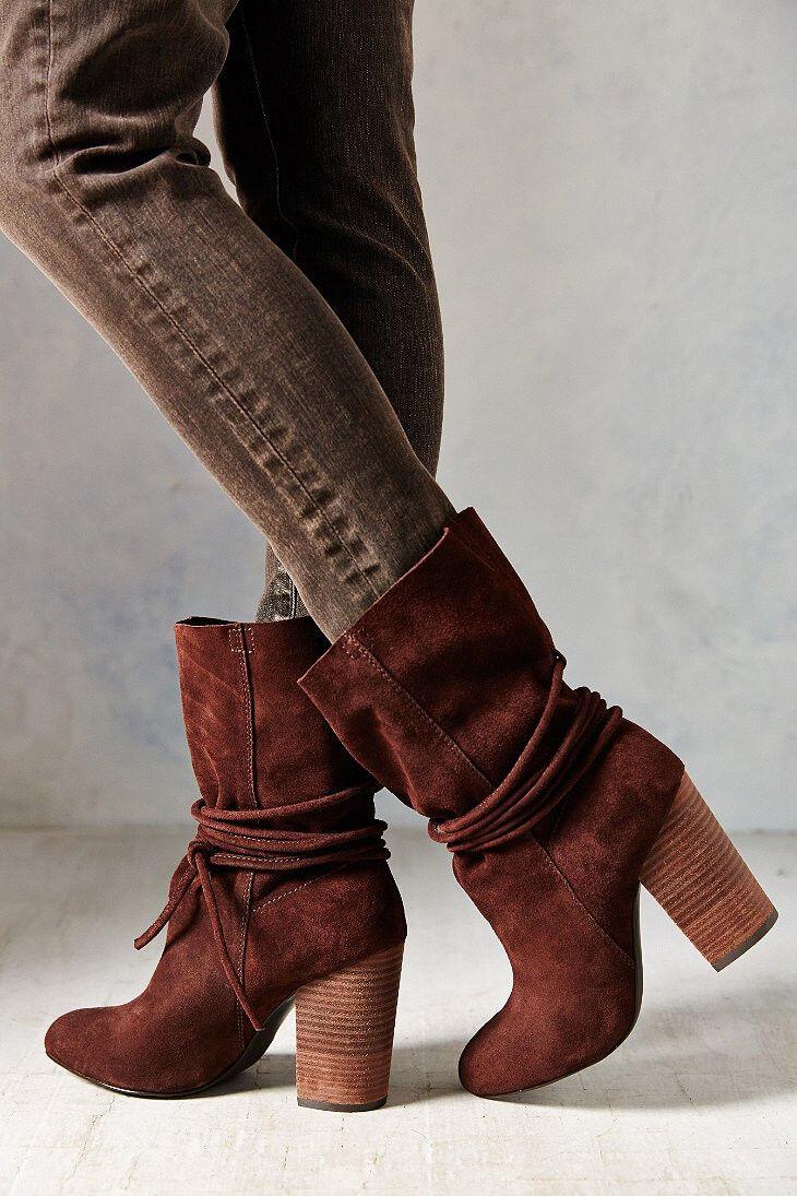 New Ecote Carly Suede Suede Suede Ankle-Tie Stiefel Größe 9 MSRP   129 braun 059737