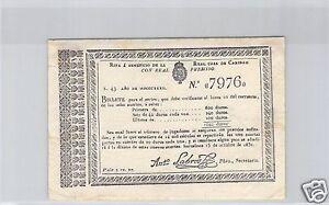 ESPAGNE-BARCELONE-BILLET-DE-LOTERIE-2-REALES-1832