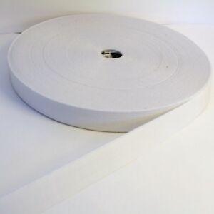 Vendu x 2 Mètres x 4 Mètres ou x 10 Mètres Elastique Plat Couture 20mm Blanc