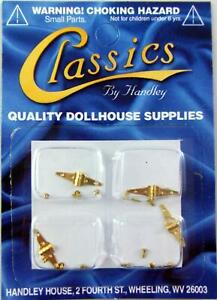 Dolls House Miniature DIY Fixtures /& Fittings Hardware 4 Brass T Hinges