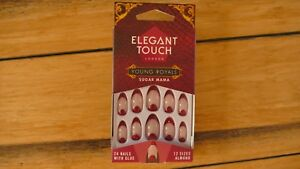 NEW-ELEGANT-TOUCH-FALSE-NAILS-YOUNG-ROYALS-COLLECTION-SUGAR-MAMA-12-SIZES-ALMOND