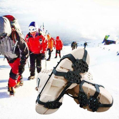 24Zähne Ice Gripper Cleat Steigeisen Rutsch-Klettern Wandern für Schuh T4P1