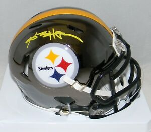 ANTONIO-BROWN-AUTOGRAPHED-SIGNED-PITTSBURGH-STEELERS-CHROME-MINI-HELMET-JSA