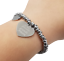 miniatura 3 - Bracciale da donna con cuore scritta braccialetto incisione in acciaio vasco per