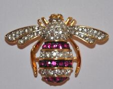 JOAN RIVERS JEWELED ESTATE STYLE BEE PIN BROOCHE - RARE - MINT CONDITION