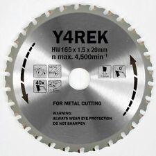165mm 20mm 40t Metal Cutting Tct Saw Blade For Hilti Makita Dewalt Panasonic