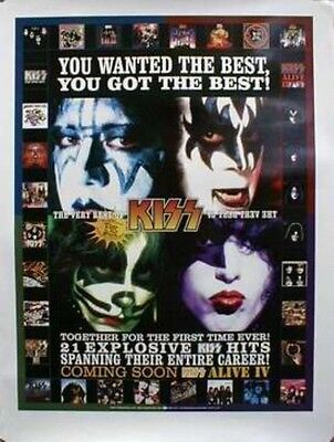 KISS 2002 mercury records very best of promotional poster Flawless New Old Stock