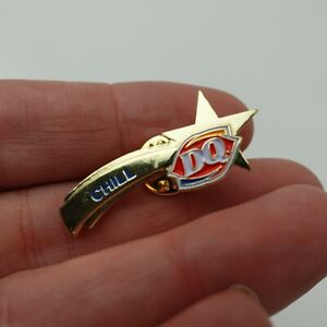 DQ Dairy Queen Pin Back Label Chill Shooting Star