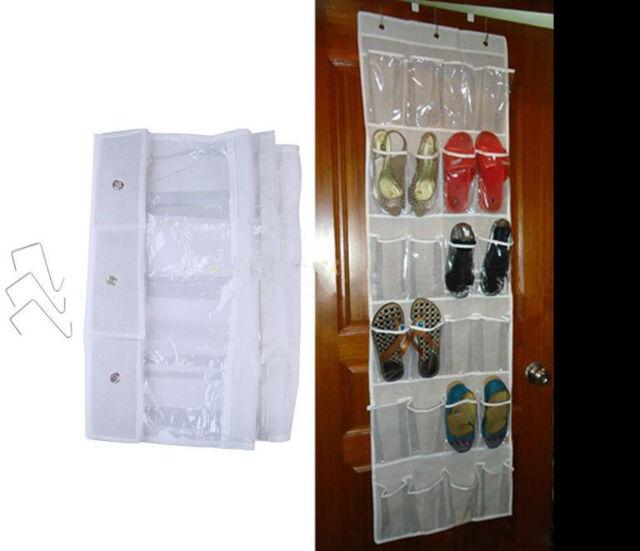Door Hanging Shoe Rack.Shoes Storage Over Clear Door Hanging Shoe Rack Hanger Tidy