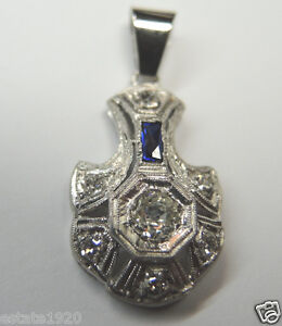 antique european diamond pendant platinum egl usa art deco vintage estate fine ebay. Black Bedroom Furniture Sets. Home Design Ideas