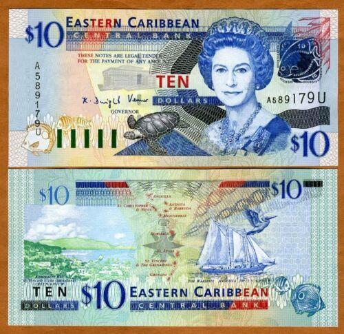 Eastern East Caribbean $10 2003 Anguilla P-43u UNC