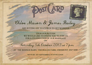 postcard invite