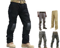 Airsoft Tactical Integrated Battle Pants With Detachable Knee Pads S-xxl Bk/cb A