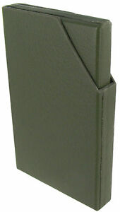 Hadley-Roma-Solid-Olive-Green-Genuine-Leather-Business-Credit-Card-Holder