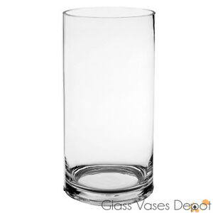 Wholesale Glass Cylinder Vase 5 Quot W X 10 Quot H 6pcs Wedding Hurricane Candle Holder Ebay