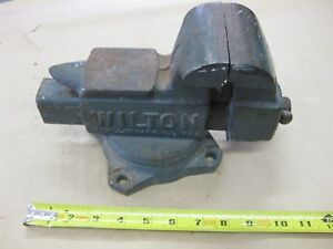 Vintage Wilton Made In Usa 3 5 Quot Machinist Vise Swivel Base