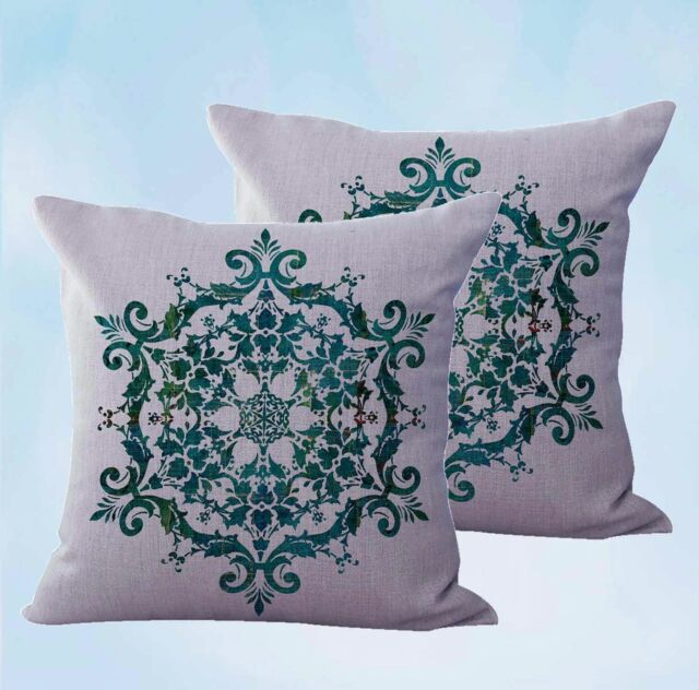 set of 2 boho mandala yoga meditation cushion covers for pillows