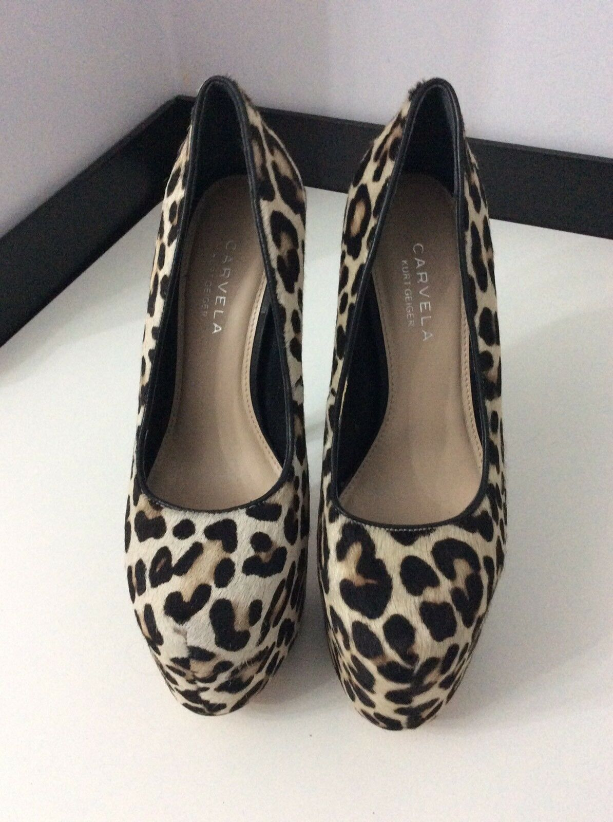 CARVELA By Kurt Geiger Kg Hair New Ex Display Pony Hair Kg Leopard Court Schuhes 39 Uk 6 4f359e