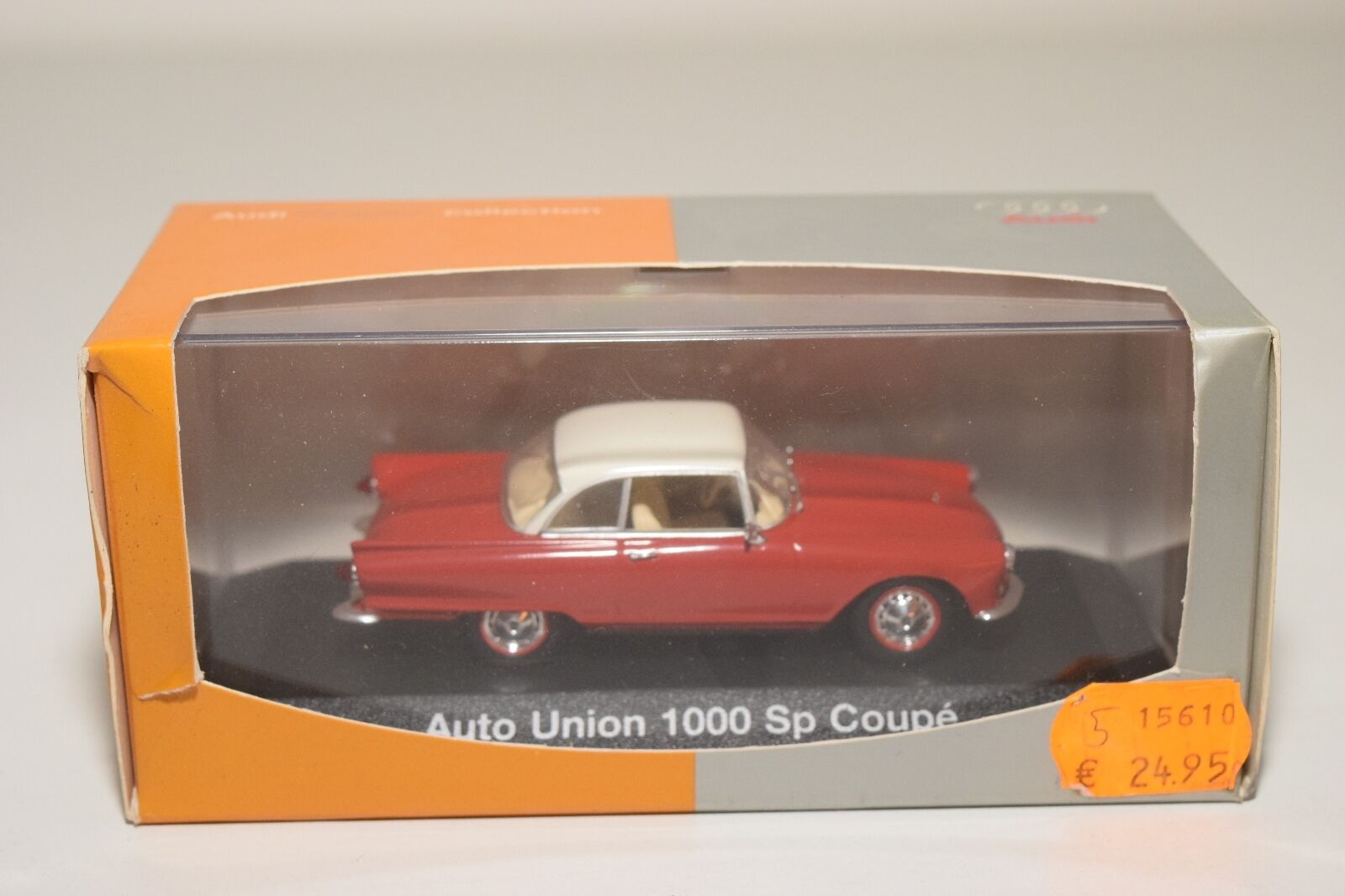 . MINICHAMPS AUTO UNION 1000 SP COUPE rosso CREAM MINT scatolaED
