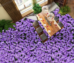 3D Púrpura Flores Papel Pintado Mural Parojo Impresión de suelo 51 5D AJ Wallpaper Reino Unido Limón