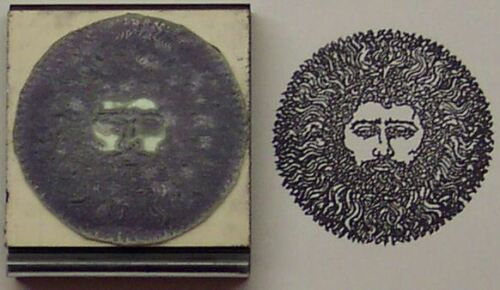 Green Man rubber stamp Amazing Arts great detail!