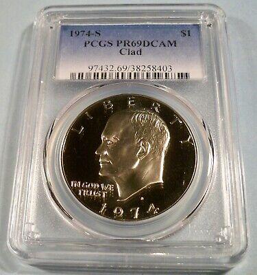 1974-S Clad Eisenhower Ike Dollar PR69DCAM PCGS Proof 69 Deep Cameo