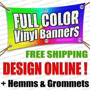 Free Design Included 7/' x 7/' Custom Vinyl Banner 13oz Full Color