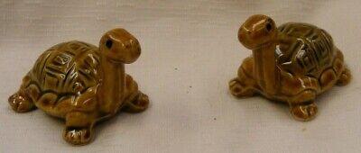 Dollhouse Miniature Ceramic Brown Tortoise