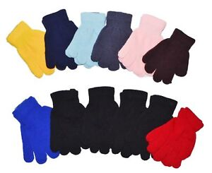 Kids-Magic-Gloves-Children-Knit-Winter-Gloves-One-Size-Fits-Most-Kids-12-Pairs