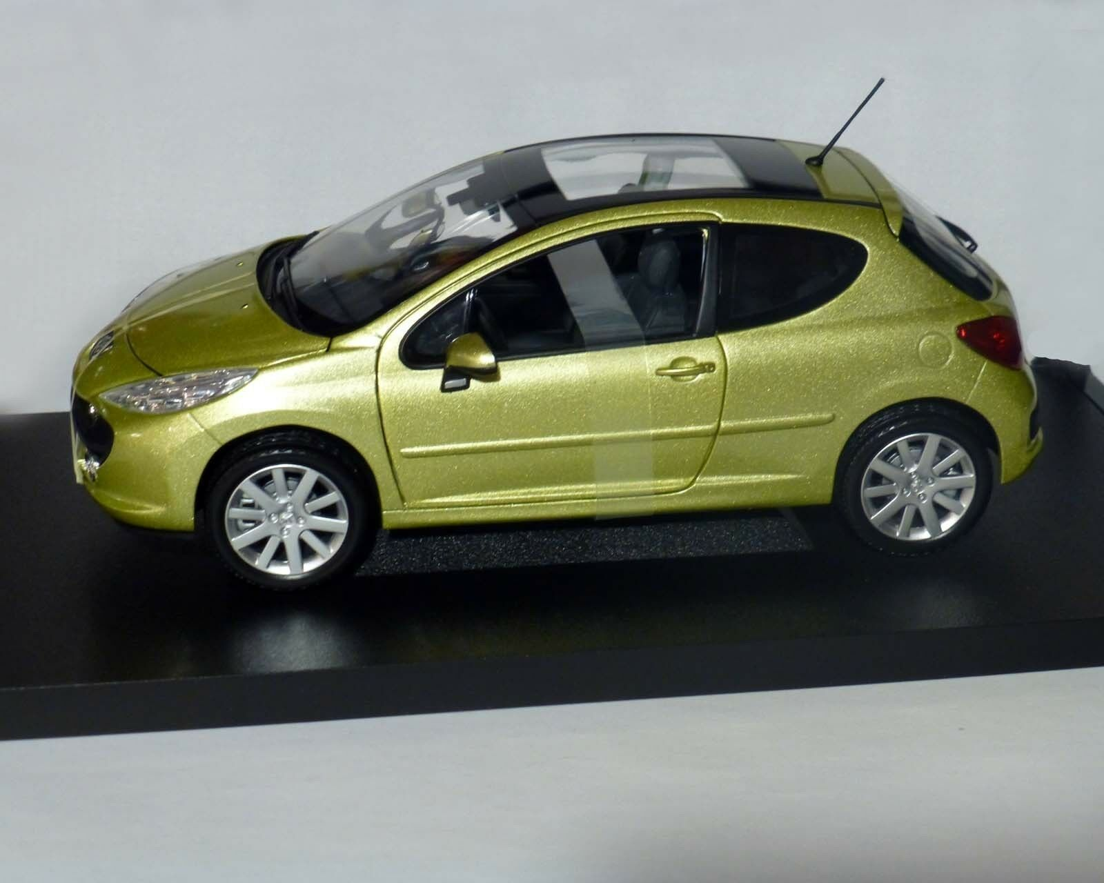 Peugeot 207 Yellow Metallic - 1 18, Norev