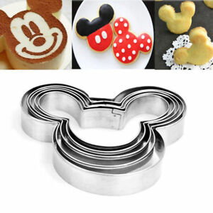 5pcs Mickey Mouse Biscuit Cutter Mould Cake Cookies Pastry Mold Diy Baking Tool Ebay
