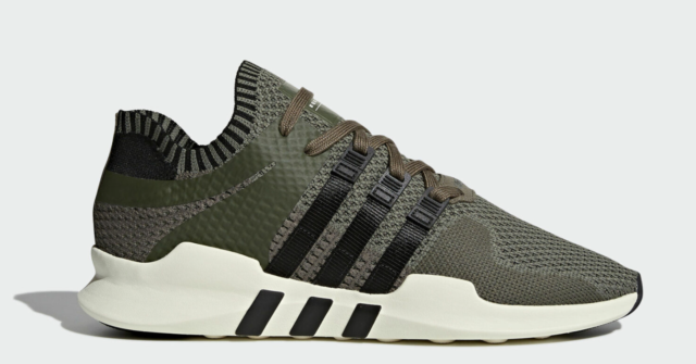 adidas EQT Support ADV Primeknit Men 11.5 Green Olive Black By9394 Running Shoes
