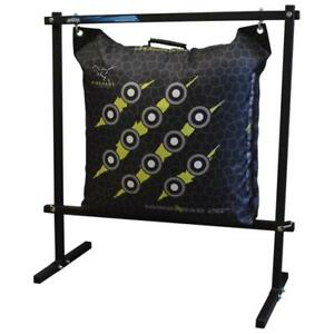 NEW-Rinehart-18740-Flexible-and-Durable-Hanging-Bag-Stand-in-Black-Color
