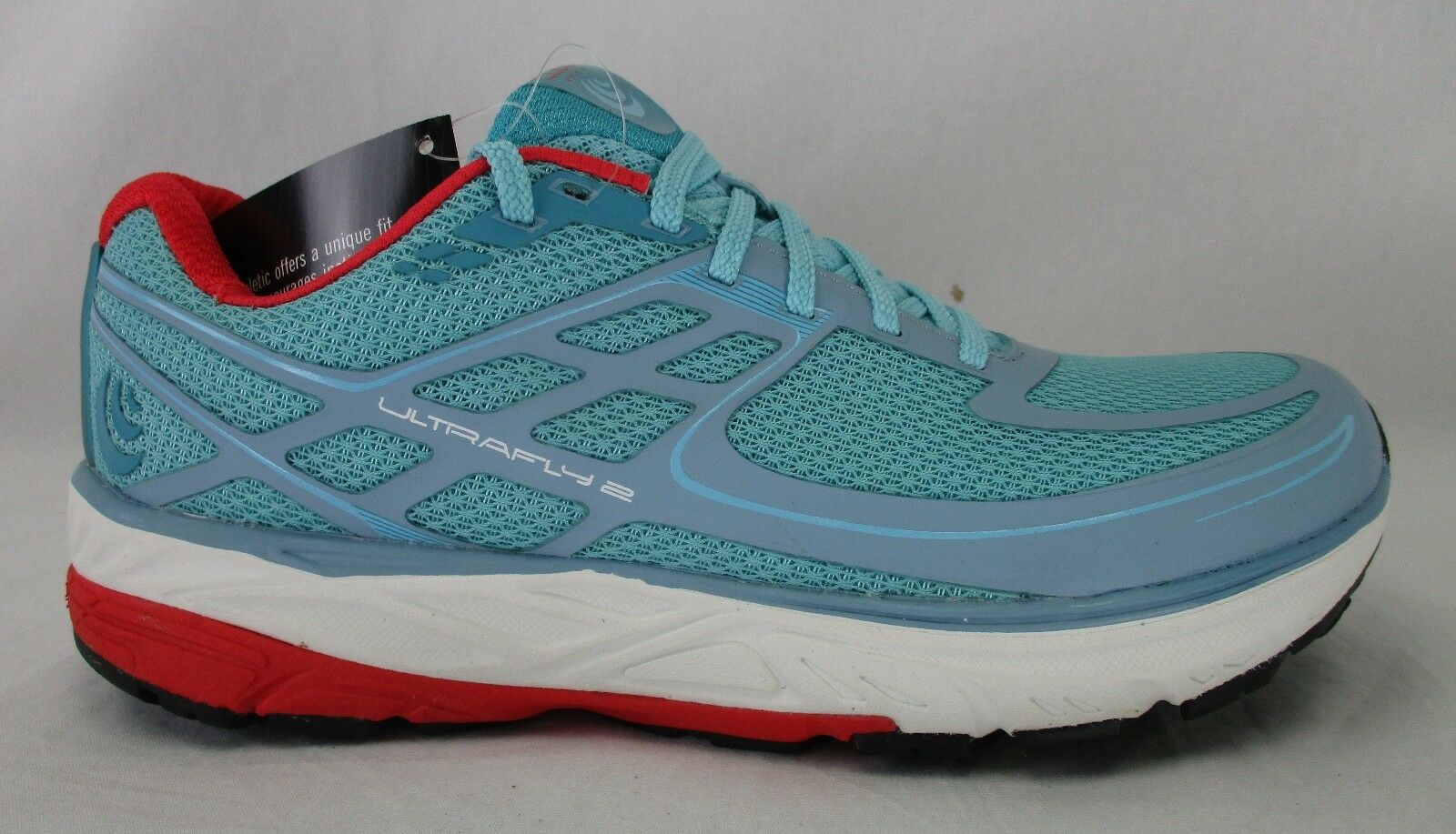 Topo Athletic Womens Ultrafly 2 Running Shoes W024 Ice/Red Size 8.5