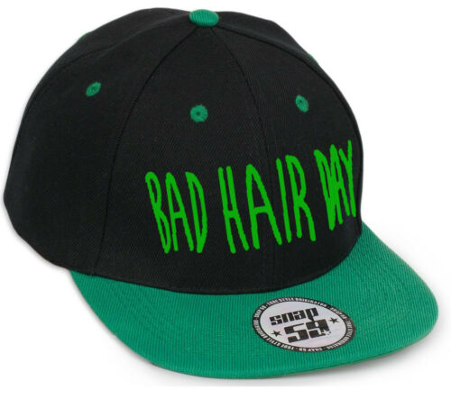 Hommes Femmes Snap Back Cap Casquettes de Baseball Sangle Réglable Snap Back Bad Hair Day
