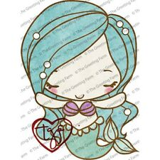 MERMAID ANYA-The Greeting Farm Cling Mount Rubber Stamp-Stamping Craft-Cards