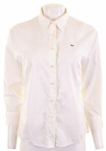 LACOSTE-Womens-Shirt-3-4-Sleeve-Size-42-Large-White-Cotton-AG07