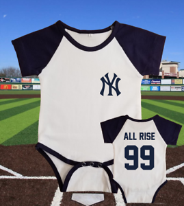 best service a04c2 c3f16 Details about New York Yankees Aaron Judge Jersey Baby Shirt Bodysuit All  Rise